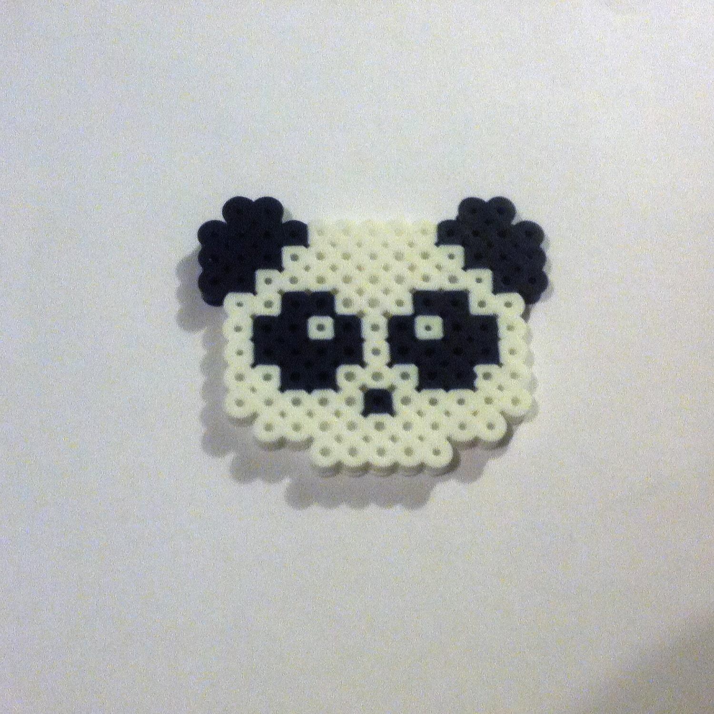 Cute Panda Perler Bead Sprite Pixel Art Design Kandi Hama Etsy
