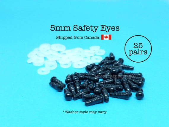 5mm Black Safety Eyes 25 Pairs
