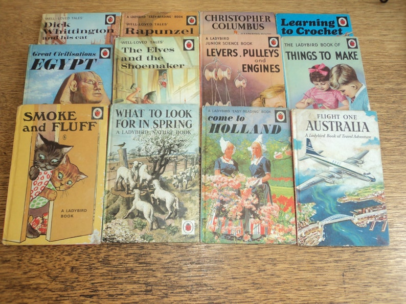 Set of 100 Vintage 1960s/1970s Ladybird books in good image 0