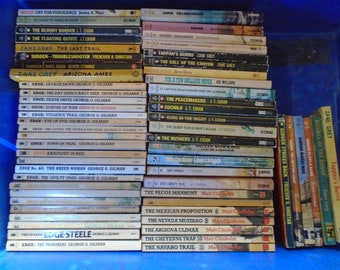 Set of 60 Mixed Author Western paperback books