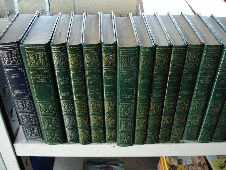 Set of 25 Vinyl Covered books by Guild Books.  Mixed Authors image 0