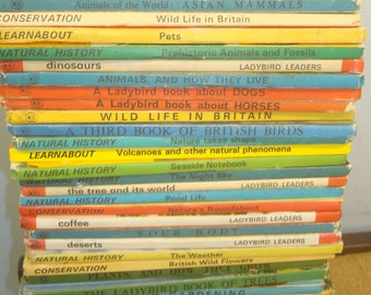 Set of 42 Nature Themed Ladybird books
