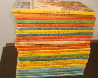 Set of 24 History Themed Ladybird Books.  Mostly Good-VG condition