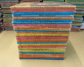 Set of 28 Historical figures Ladybird Books.  Mostly Good-VG condition