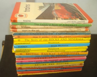 Set of 22 Science & Engineering Themed Ladybird Book
