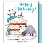 Possibilities Are Endless Opossum Happy Birthday Possum Card