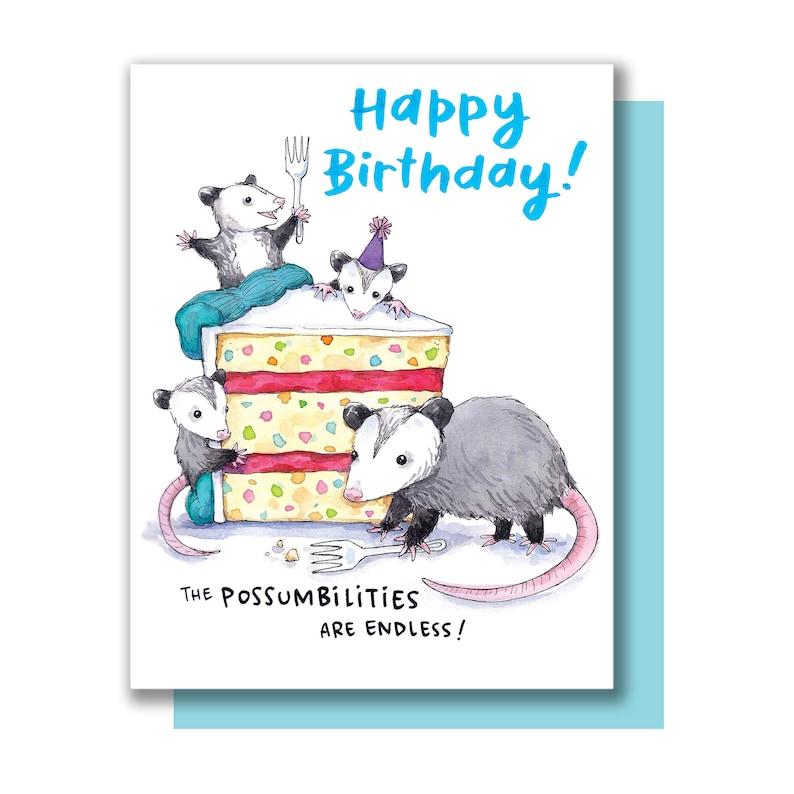 Possibilities Are Endless Opossum Happy Birthday Possum Card image 0