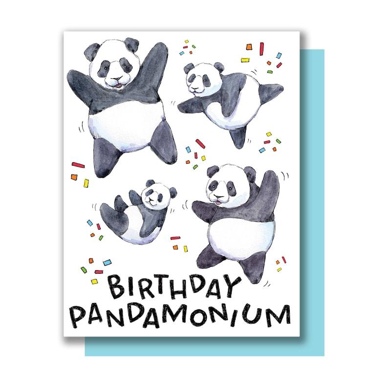 Birthday Pandamonium Panda Happy Pandas Card