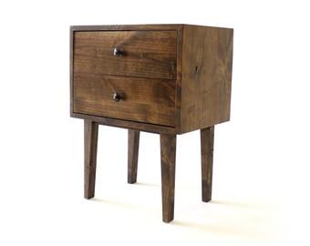 Mid Century Modern Nightstand | End Table | Rustic Nightstand | Modern  Furniture | Modern Nightstand | Reclaimed Wood Furniture