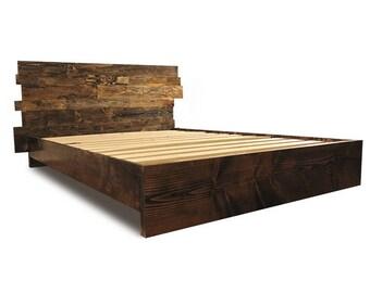 Solid Wood Platform Bed Frame And Headboard