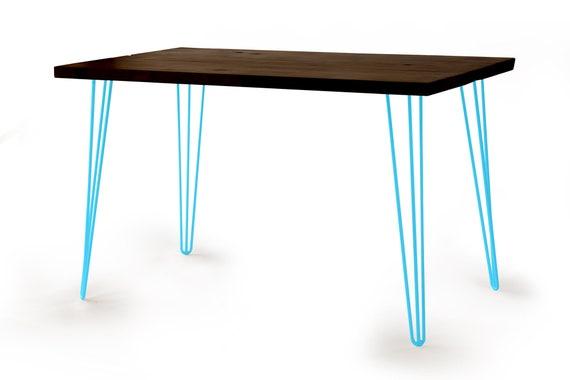 Hairpin leg desk teal hairpin leg table modern rustic etsy image 0 watchthetrailerfo