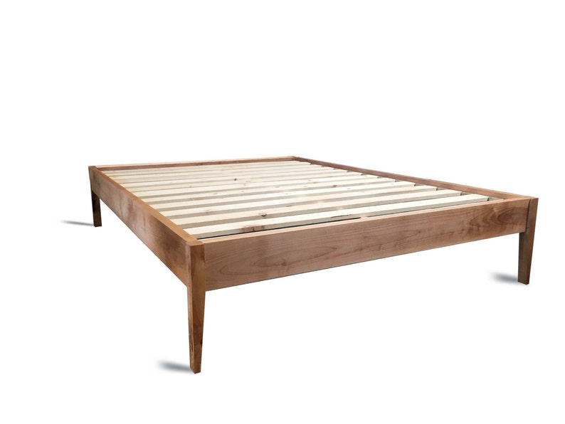 Platform Bed Frame / Simple Wood Bed With Sleek Tapered Legs / Modern Bed  Frame / Modern And Rustic Platform Bed / Modern Wood Bed