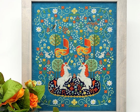 Unicorn Tapestry - Tiny Modernist - Cross Stitch Chart