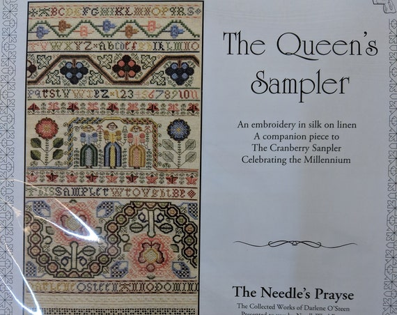 Queen's Sampler - The Needle's Prayse - Cross Stitch Chart and Stitch Guide