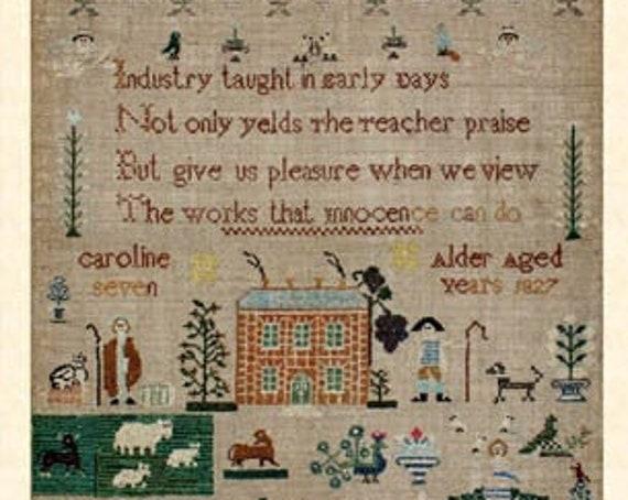 Caroline Alder 1827 - NeedleWorkPress - Cross Stitch Chart