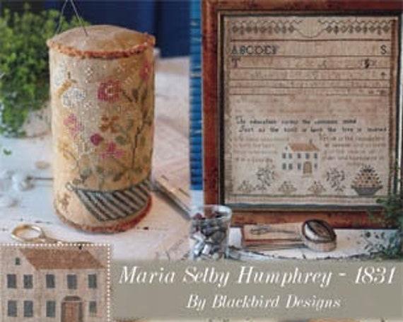 Maria Selby Hmphrey 1831 - Blackbird Designs - Cross stitch chart