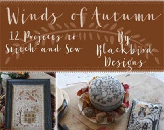 Winds of Autumn - Blackbird Designs - Cross Stitch Book