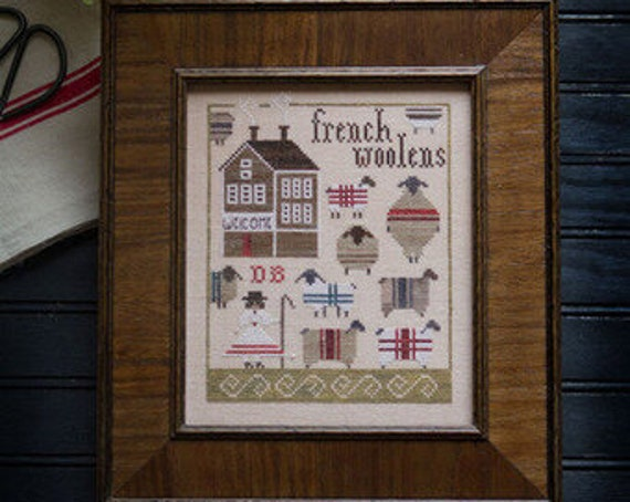 French Woolens - Plum Street Samplers - Cross Stitch Chart