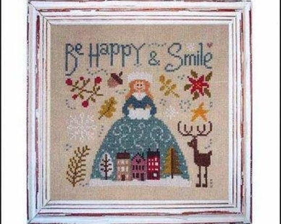 Be Happy and Smile - Jardin Prive - Cross Stitch Chart