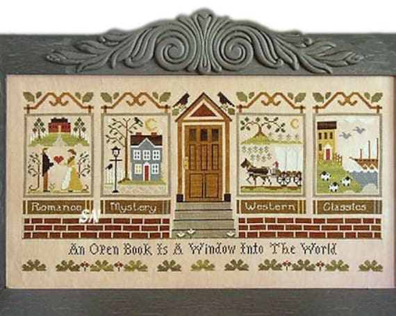 The Library - Little House Needleworks - Cross Stitch Chart