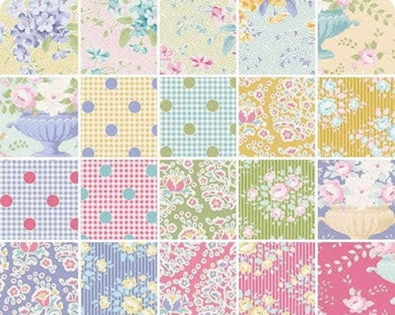 TILDA Happy Campers Charm Pack - 40 x 6 inch squares