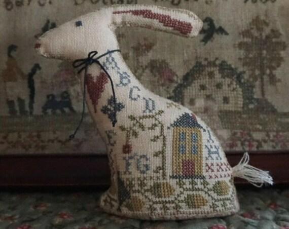Samplar Hare- La-D-Da - Cross Stitch Chart