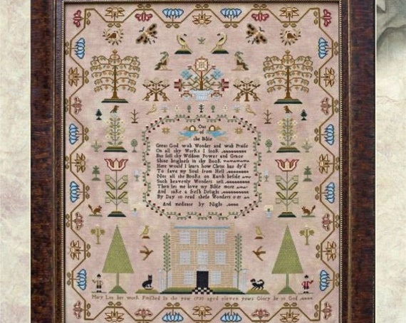 Mary Lea 1793  - Hands Across the Sea Samplers - Paper Chart