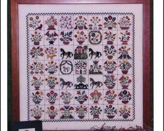 Emily Munroe Quilt - Rosewood Manor - Cross stitch chart