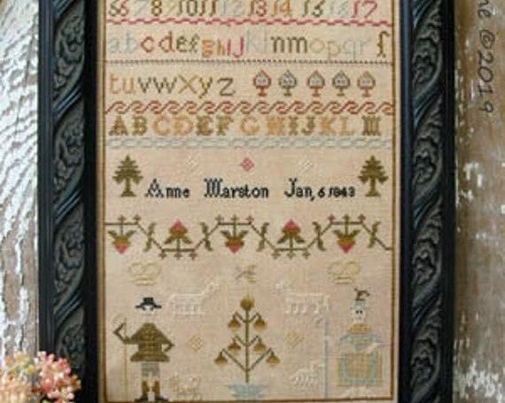Anne Marston 1843 - Pineberry Lane - Cross Stitch Chart