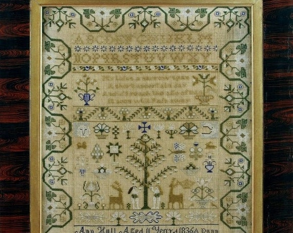 Ann Hull 1836 - Giulia Punti Antichi - Cross Stitch Chart