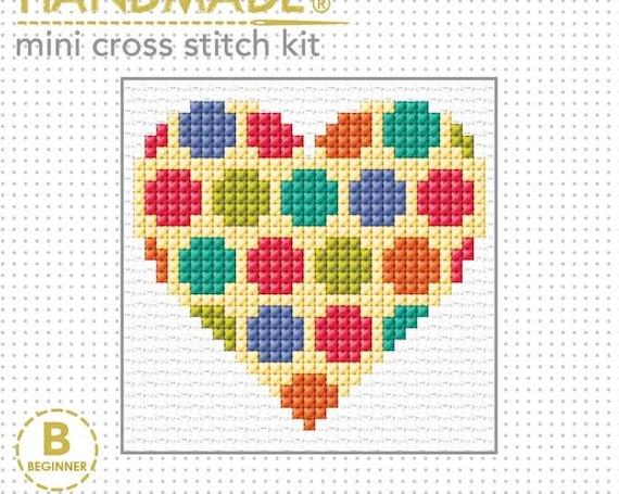 Cross Stitch Starter Kit - Spotted Heart
