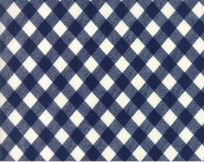 Bonnie and Camille Basics - Navy Gingham 5512437 - 1/2yd