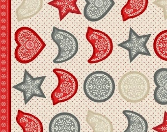 Skandi Christmas Ornaments - Fabric Panel