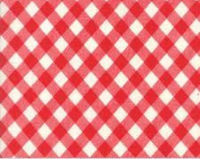 Bonnie and Camille Basics - Red White Gingham - 1/2yd