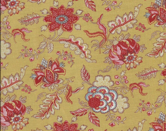 Dutch Heritage Pomegranate 1022 - Mustard - 1/2yd