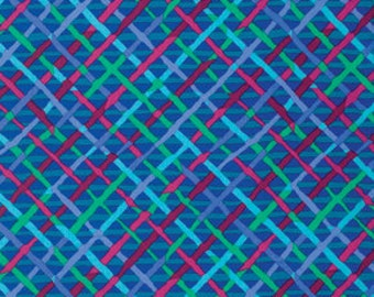 Kaffe Fassett Collective Mad Plaid Cobalt - 1/2yd