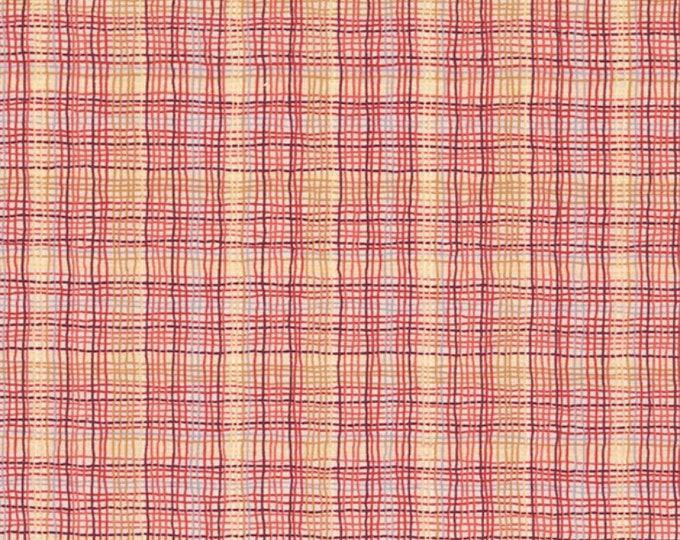 A Wandering Mind - Madras Check - Rose/Rust - 1 yd