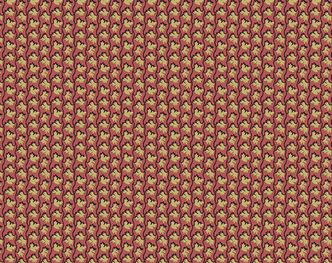 Windermere by Di Ford Hall - Petite Floral Burgundy 8928LR - 1/2yd