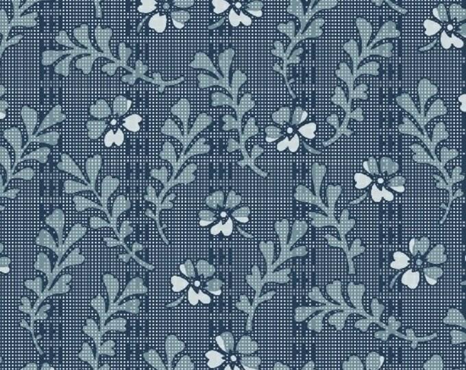 Romantic Renaissance - Blue Frond - 1/2yd