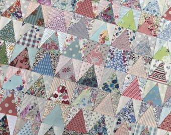 Postcard Project #4 - Not Quite 60 Degree Triangle by Lucy Carson Kingwell - Pattern and Template