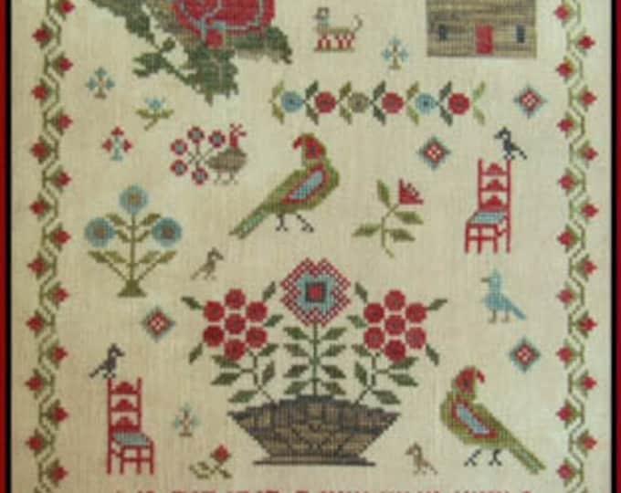 Little Red Chair Sampler - Scarlett House - Cross Stitch Chart
