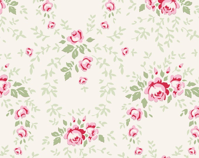 TILDA Old Rose - Lucy Red Rose 100201 - Fat Quarter