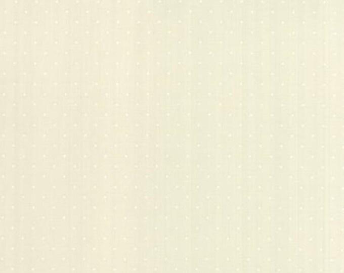 Modern BG Paper Pindot White Eggshell - 1/2yd