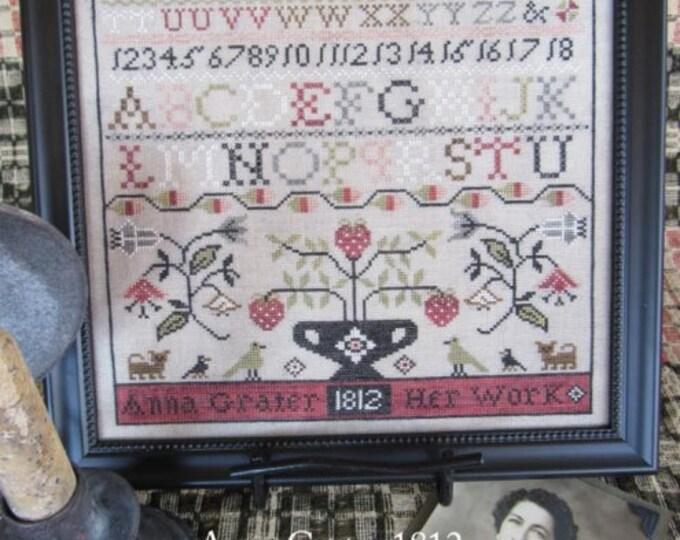 Anna Grater 1812 - Scarlett House - Cross Stitch Chart