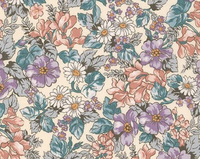London Calling Lawn 6 - Floral Thistle - 1/2 yard
