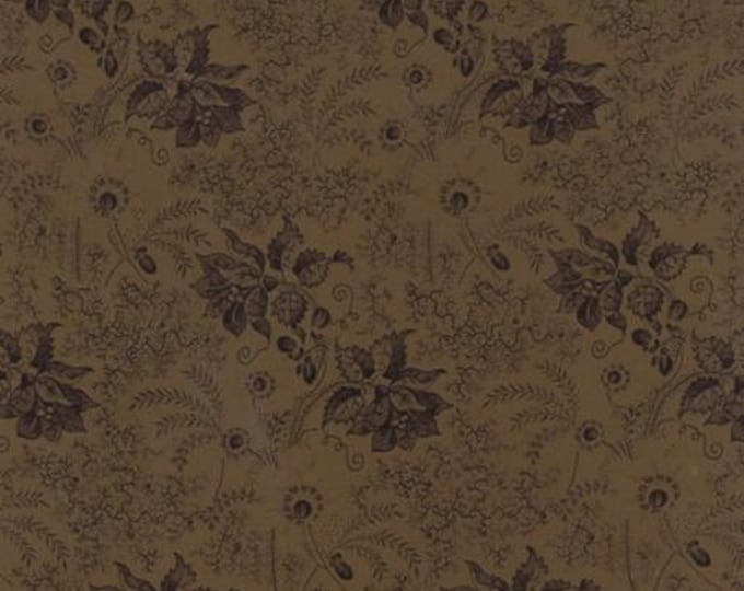 Community Flower Vines Brown - 1/2yd