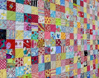 Postcard Project #3 - Scrappy Squares by Lucy Carson Kingwell - Pattern and Template