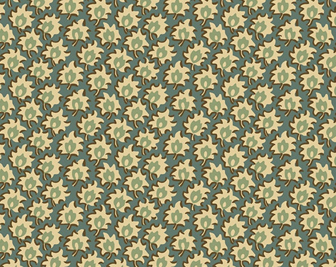 Windermere by Di Ford Hall - Floret Teal 8927LT - 1/2yd