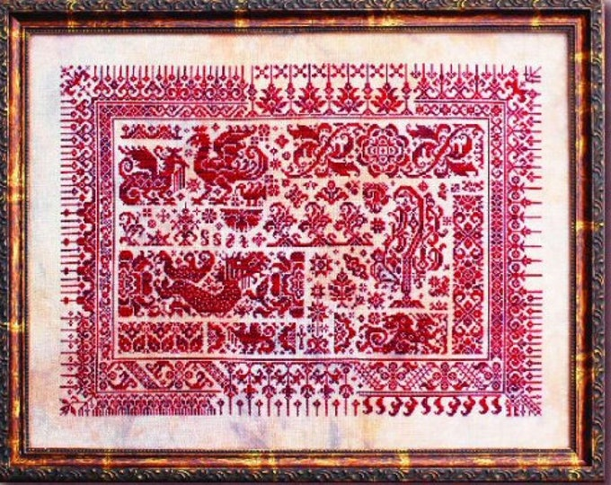 Dragons of Sumatra - Ink Circles - Cross stitch chart