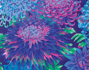 Kaffe Fassett Collective Chrysanthemum Blue - 1/2yd